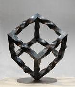"""""""Metamorphosis - inside out  (M-42)""""     H.50x40x40cm/mild steel/2013"""