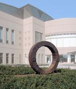 """Circle - harmony  (C-05)""          H.135x210x70cm/cor-ten steel/1993 Nishinasuno Sports Park, Tochigi, Japan"