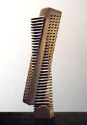 """Space - virtual ・ real  (K-08)""         H.30x7x5cm/brass/1984"