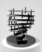 """Space - 7 layers  (K-35)""          H.30x30x28 cm/bronze/1989 (作家蔵)"