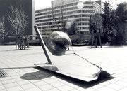 """Time capsule  (K-03)""         H.120x220x90cm /mild steel/1983"