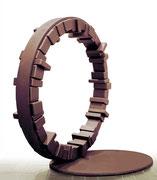"""Circle - harmony  (C-11)""          H.200x285x115 cm/cor-ten steel/1994"