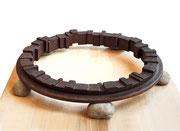 """Circle - on the earth  (C-15)""           H.7x45x45cm/mild steel/1994"