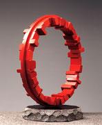 """Circle - harmony  (C-21)""     H.50x44x25cm/aluminium (painted)/1997"