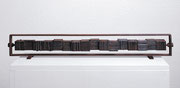 """""""Fire Marking - 1x16  (F-11)""""          H.8x60x5cm/cor-ten steel/1991"""