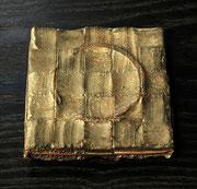 """Face - vestiges (痕跡)  <K-57>""      t.2x11x11cm/bronze/1999"