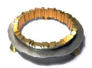 Circle - harmony  <C-38>          H.12x57x57cm/brass, stainless steel/2017