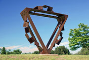"""Metamorphosis - door to the future  (M-25)""         H.250x250x100cm/cor-ten steel/2008"
