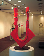 """Arc - to the sky  (A-02)""          H.70x40x25cm/mild steel/1993"