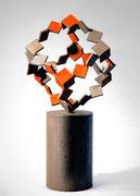 """""""Metamorphosis - inside out  (M-11)""""      H.50x22x22 cm/mild steel/2005"""