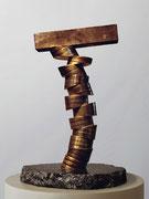 """Space - divided column  (K-13)""        H.34x20x20cm/brass/1985"