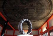 """""""Circle - 34 wedges  (C-34)""""     H.41x40(φ40)x20cm/mild steel/2005 (作家蔵)   (in Kiyomizu-dera Temple, Kyoto)"""