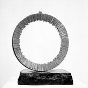 """Circle - 1st Circle  (C-01)""          H.41x40x35cm/stainless steel/1992"