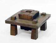 """Space - 12 wedges  (K-56)""     H.6x10x10cm/bronze/1999"