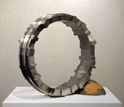"""Circle - harmony  (C-26)""     H.45x50x20cm/stainless steel/1998"