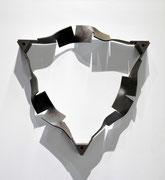 """Metamorphosis - saṃsāra (rinne)  <M-39>""      H.46x46x8cm/mild steel/2013 (作家蔵)"