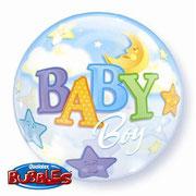 """Balon """"Bubble"""" - Baby niebieski. 55 cm. Cena z helem 29 zł"""