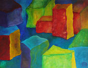 Titel: Blokkade Materiaal: Acryl Afmeting: 90cm x 70cm