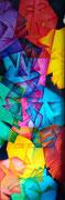 Titel: Portretten Verticaal Materiaal: Alcyd/Olie Afmeting:120cm x 40cm