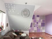moderne Raumgestaltung im Wohnzimmer