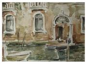 Venetian sketch II  /  Venezianische Skizze II   20x28  2012