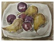 Fruit plate / Obstplatte   21,5x28,5cm  2012