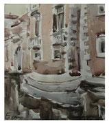 Corner of old Venice II  /  Ecke von alte Venedig II   24x21,5   2012