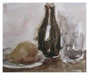 Still life with pear / Stillleben mit Birne  18x22cm  2011