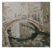 Bridge. Venezia  /  Brücke. Venezia    24,5x26  2012