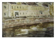 Moscow River / Fluss Moskwa   21,5x31cm  2014