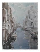Under Venetian sky  /  Unter venezianischer Himmel    40x30  2011