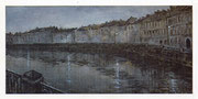 Night. River lights  /  Nacht.  Flusslichter  30x60 1996