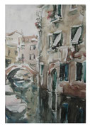 House at the channel. Venice  / Haus am Kanal. Venedig   34x23,5  2012