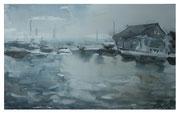 Abend im Hafen  /   Evening in port    21,5x33,5cm  2013
