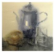 Stilllife with teapot / Stilleben mit Teekanne  18,5x19cm  2007