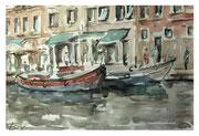 Quay. Venetian sketch  /  Kai. Venezianische Skizze   23x34  2013