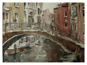 Venice. On the bridge  /  Venedig.  Auf der Brücke    23x31 2012
