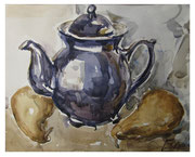Teapot and pears / Teekanne und Birnen  23,5x29,5cm  2012