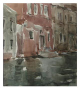 Windy evening in Venice  /  Windiger Abend in Venedig   23x31  2012