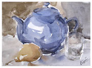 Still Life with Blue Teapot / Stillleben mit blauer Teekanne  17,5x24cm  2011