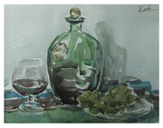 Wine and grapes / Wein und Trauben   24x31cm  2012