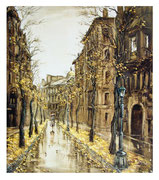 The big Moscow Street / Die Große Moskauer Strasse   75x60cm   1996