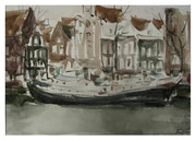 Amsterdam. Ships in winter  /  Amsterdam. Schiffe im Winter   24x34,5cm   2010