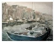 Rainy day. The ships  /  Ein regnerischer Tag. Die Schiffe   48x62cm  2007