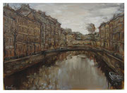 At the channel / Am Kanal  50x70cm  2004