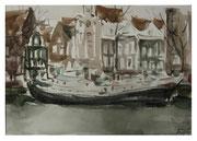 Amsterdam. Ships in winter / Amsterdam. Schiffe im Winter   24x34,5cm  2010