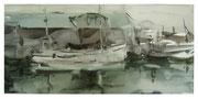 In port  /  Im Hafen   16x34cm  2005