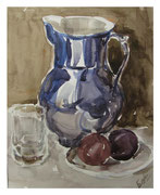 Pitcher and fruits / Krug und Obst   23,5x31,5cm  2013