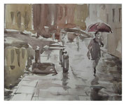 Rainy day in Venice  /  Regenerischer Tag in Venedig   24x29,5  2012