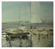 Sail  /  Segel   27x30cm 2006
